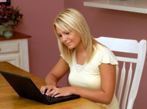 young-woman-typing